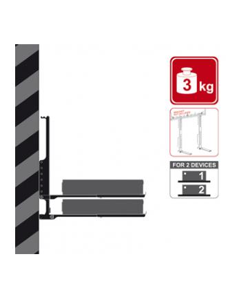 4W Uchwyt do DVD dla dwóch urządzeń - mocowany do uchwytu TV udźwig 3kg - biały
