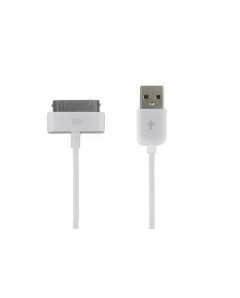 Kabel USB 2.0 do iPad / iPhone / iPod transfer/ładowanie 1.0m biały