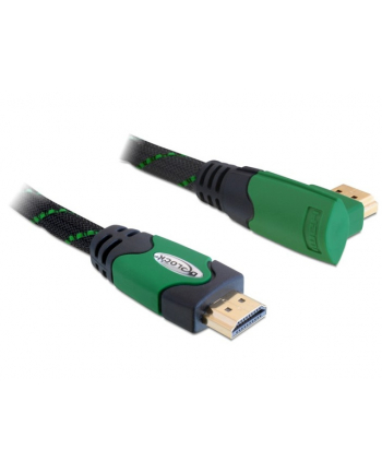 KABEL HDMI-HDMI PREMIUM KĄTOWY PRAWY GREEN SZNUR 2M DELOCK