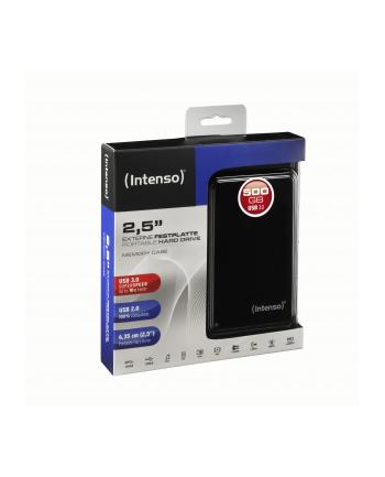 HDD INTENSO USB 3.0 500GB 2 5  MEMORYCASE BLACK ZEW