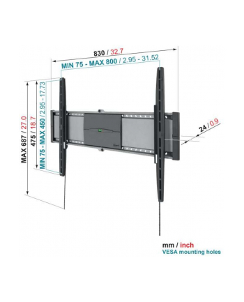 Vogels EFW8305 32-50 inch (81-127cm)/ 45kg/ VESA (75x75mm up to 800x450mm)