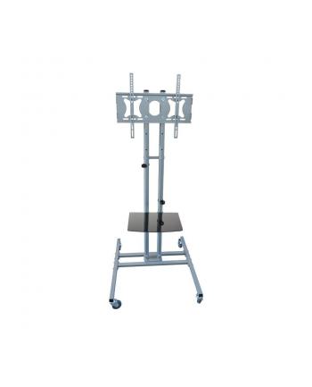 4World Stojak mobilny na 3xLCD/Plasma, 3x23-42'', półka DVD, max.45kg, wys.164cm