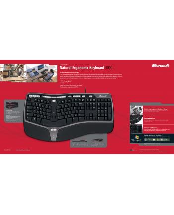 Microsoft Natural Ergonomic Keyboard 4000 Klawiatura Windows Mac USB Port
