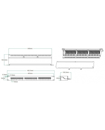 Linkpasic patchpanel FTP category 5e 24-port with the strip
