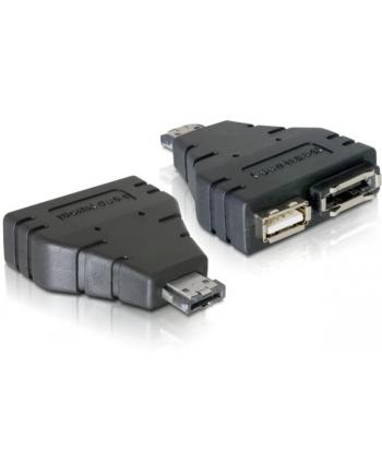 Delock adapter Power Over eSATA -> eSATA + USB 2.0