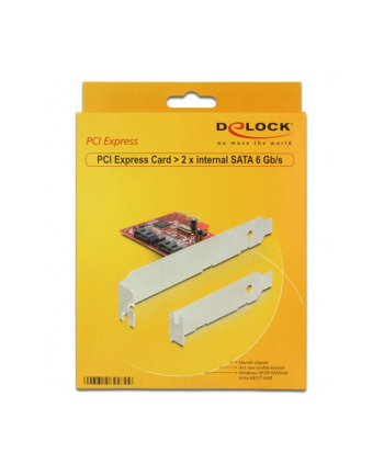 Delock karta pci express -> Sata Internal 6Gb/s  x2