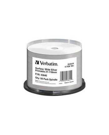 Verbatim DVD-R [ spindle 50 | 4.7GB | 16x | do nadruku wide silver ]