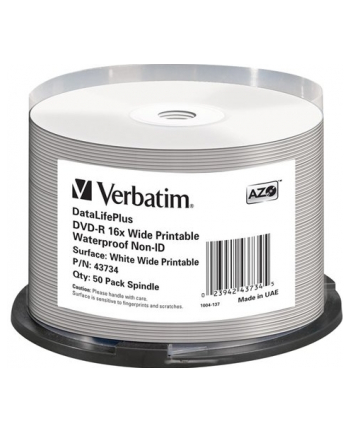 DVD-R DL Verbatim [ spindle 50 | 4.7GB | 16x | do nadruku wide glossy ]