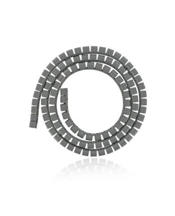 4World Organizer kabli SMART SNAKE - średnica 16mm, długość 1.5m, szary