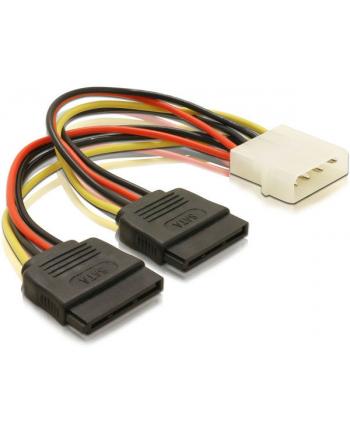 20cm adapter MOLEX 4pin na 2x SATA POWER