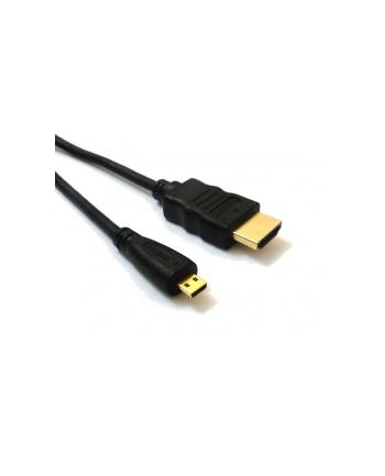 Kabel HDMI 1.4 - micro HDMI, dl.2m pozłacany