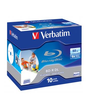 VERBATIM BD-R(10-pack)Blu-Ray/Jewel/DL/6x/50GB/ PRINTABLE SURFACE