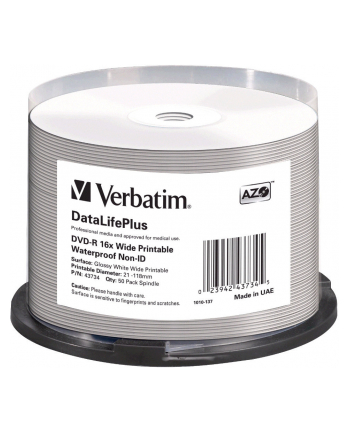 VERBATIM DVD-R(50-Pack)Spindle/Printable/16x/4.7GB/NON-ID