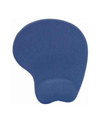 MANHATTAN Podkładka pod mysz żelowa, z podpórką na nadgarstek, niebieska