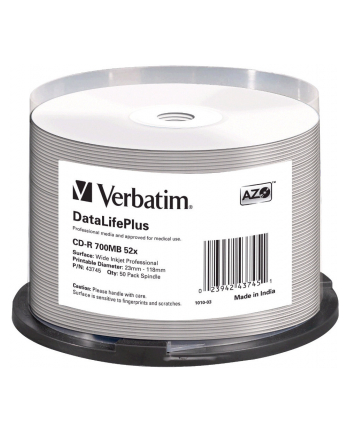 Dysk CD-R Verbatim 52x Cake 50 DL AZO 43745