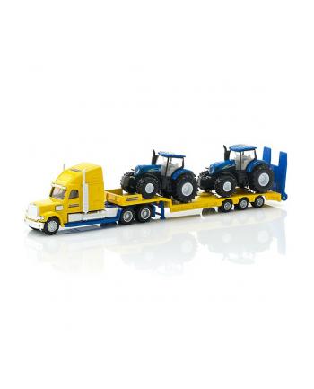 SIKU Ciężarówka z traktorami New Holland