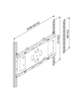 Uniwersalne mocowanie (maks. VESA 960x512) z Autolock, srebrne