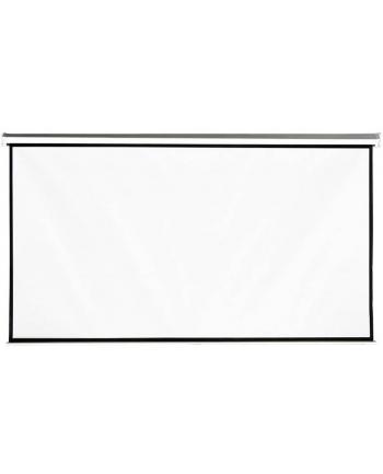 4World Ekran projekcyjny na ścianę 221x124 (100'',16:9) biały mat