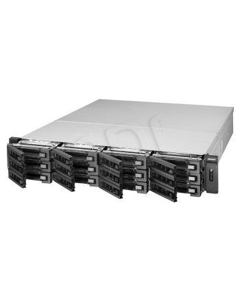 QNAP 12-Bay TurboNAS, SATA 6G, 3.1G Quad Core, 4G DDRIII ECC (Up to 8G) RAM, 4x