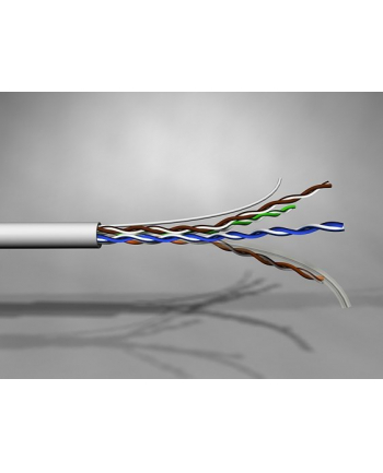 Molex Kabel U/UTP PowerCat 6, 4 pary, PVC, 500m, Szary