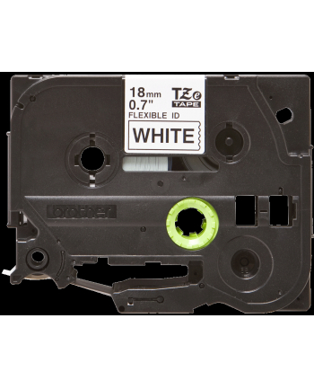 Taśma Brother 18mm BLACK  ON WHITE FLEXIBLE ID