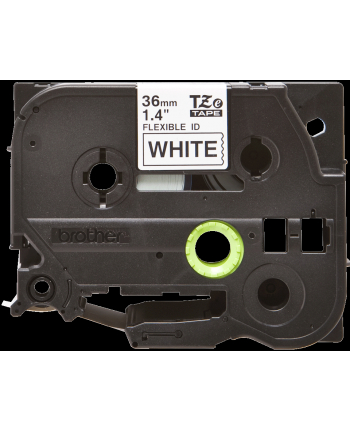Taśma Brother 36mm BLACK  ON WHITE FLEXIBLE ID