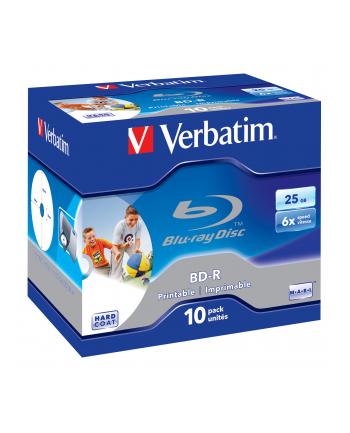 Verbatim BluRay BD-R [ jewel case 10   25GB   6x   PRINTABLE SURFACE HARD COAT ]