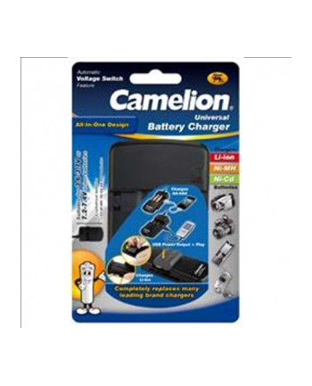 Camelion Universal Charger LBC-312 ''All in One'' (without batteries) / For Ni-MH, Ni-Cd, Li-ion / 2 Channels / USB Output (5V 600 mA max)