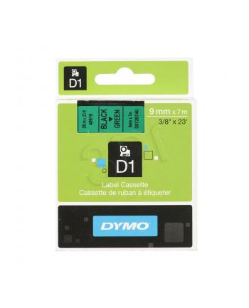 Taśma Dymo D1- 9mm x 7m czarny/zielony