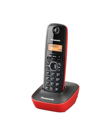 TELEFON PANASONIC KX-TG 1611PDR czerwono czarny