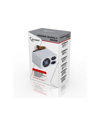 Gembird zasilacz komputerowy ATX 650W Intel 2.2 120 mm wersja BOX+ kabel