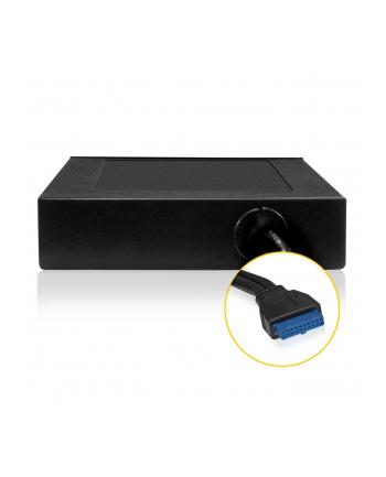 ICY BOX Czytnik kart 3,5'' wew. USB 3.0 Host+1xUSB 3.0 front