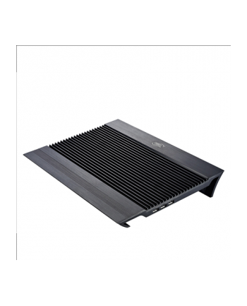 Deepcool Notebook cooler N8 black up to 17'' nb, 1x140mm black fan, pure aluminium panel provides exellent performance