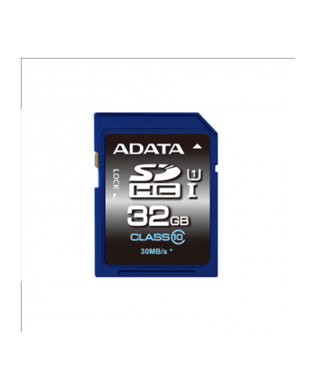 ADATA karta pamięci 32GB SDHC UHS-1 Class 10 (Transfer do 30MB/s) HD PHOTO/VIDEO