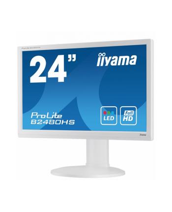 LCD LED 23.6'' Prolite B2480HS-W1 Full HD, 2ms, HDMI, DVI, głośniki, biały