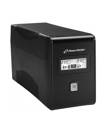 Power Walker UPS Line-Interactive 650VA 2x SCHUKO, RJ11, USB, LCD