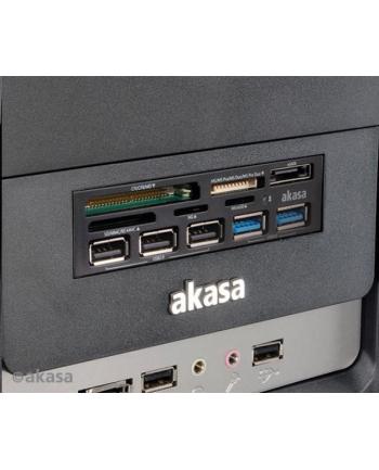 CZYTNIK KART & USB HUB AK-ICR-16 eSATA/USB3.0