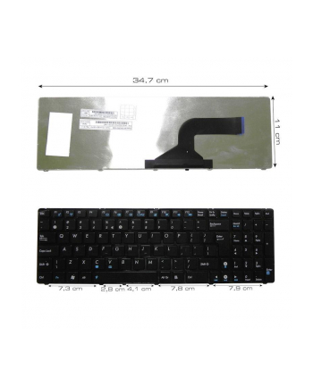 Klawiatura do notebooka ASUS K52 K52J K52JK K52JR K52F BLACK