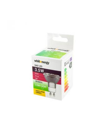 Whitenergy żarówka LED | GU10 | 72 SMD3528| 3.5W| 230V| ciepła biała| refl. MR16