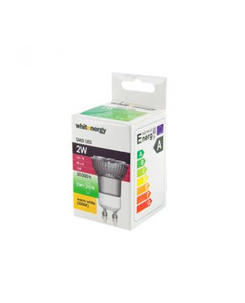 Whitenergy żarówka LED | GU10 | 12 SMD5050 | 2W | 230V| ciepła biała| refl. MR11