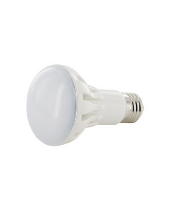 Whitenergy żarówka LED | E27 | 11 SMD3030 | 6W | 230V | ciepła biała | R63