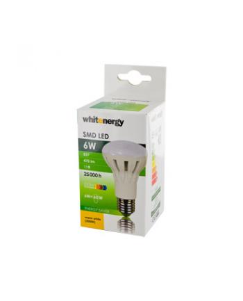 Whitenergy żarówka LED   E27   11 SMD3030   6W   230V   ciepła biała   R63