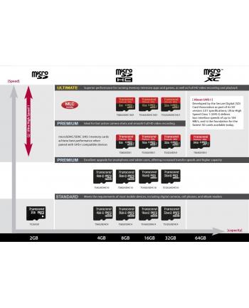 Transcend karta pamięci Micro SDXC 64GB Class 10 UHS-I +adapter SD