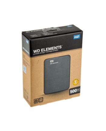 """Dysk zewnętrzny WD Elements Portable 3.0, 2.5"""", 500GB, USB 3.0, czarny"""