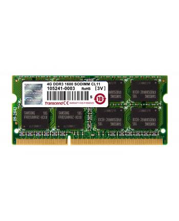 Transcend Apple Series 4GB DDR3 1600MHz CL11 SODIMM 2Rx8 MacBook Pro