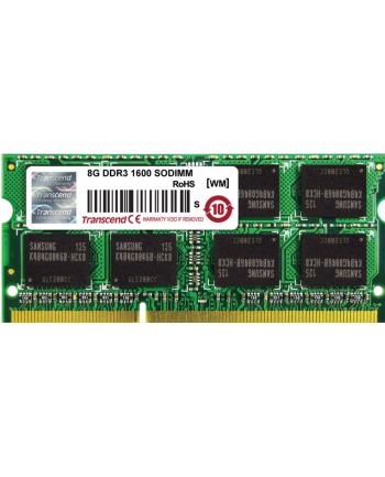 Transcend Apple Series 8GB DDR3 1600MHz CL11 SODIMM 2Rx8 MacBook Pro