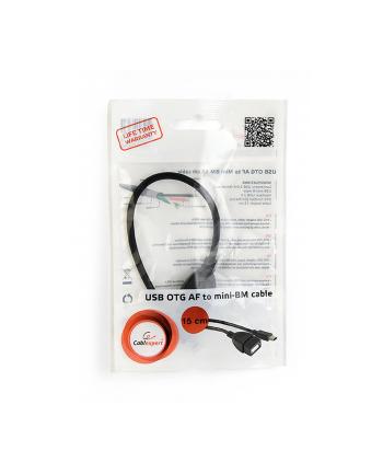 Kabel OTG USB Mini BM -> USB AF 15cm
