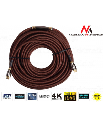Przewód HDMI-HDMI v1.4 40m Maclean MCTV-624 wzmacniacz