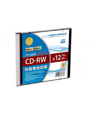 CD-RW ESPERANZA [ slim jewel case 1 | 700MB | 12x ]