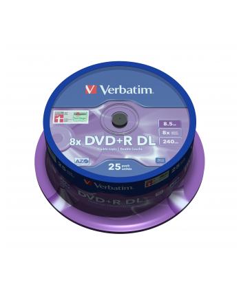 DVD+R DL Verbatim [ spindle 25 | 8,5GB | 8x |  MATT SILVER ]